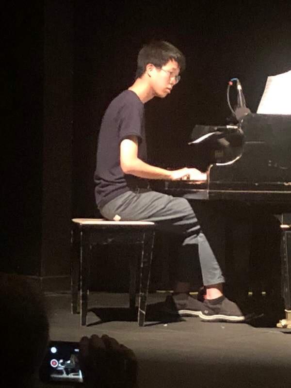 Josh playing piano