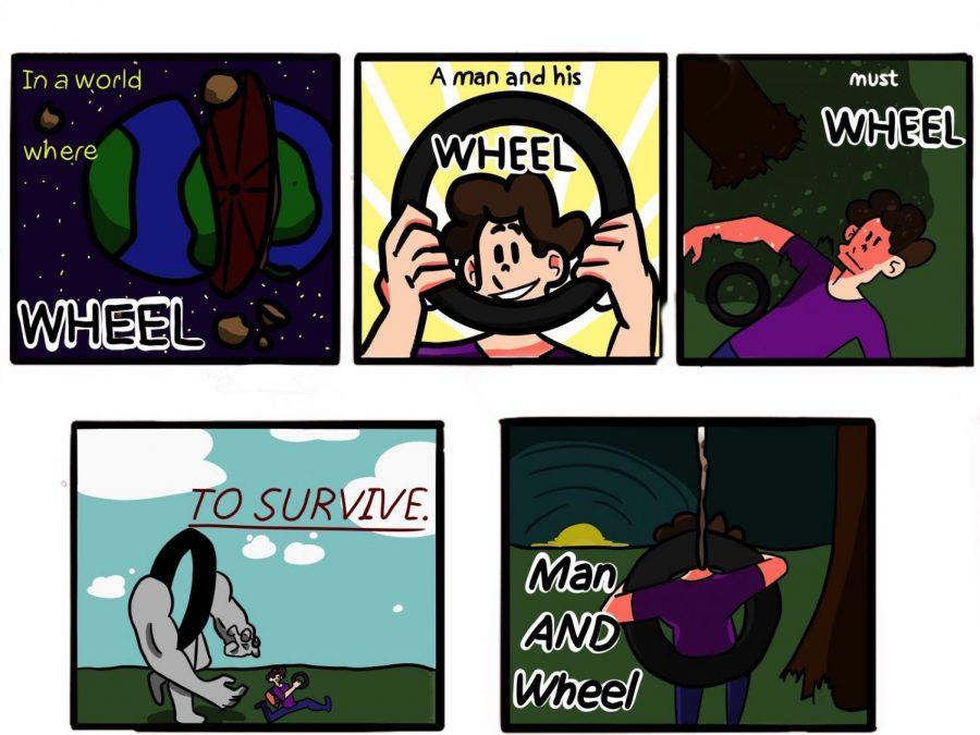 Man and Wheel